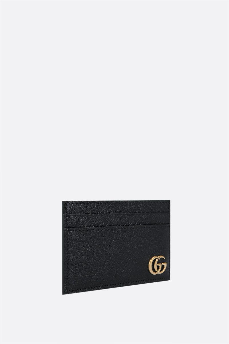 GUCCI: GG Marmont grainy leather card case Color Black_2