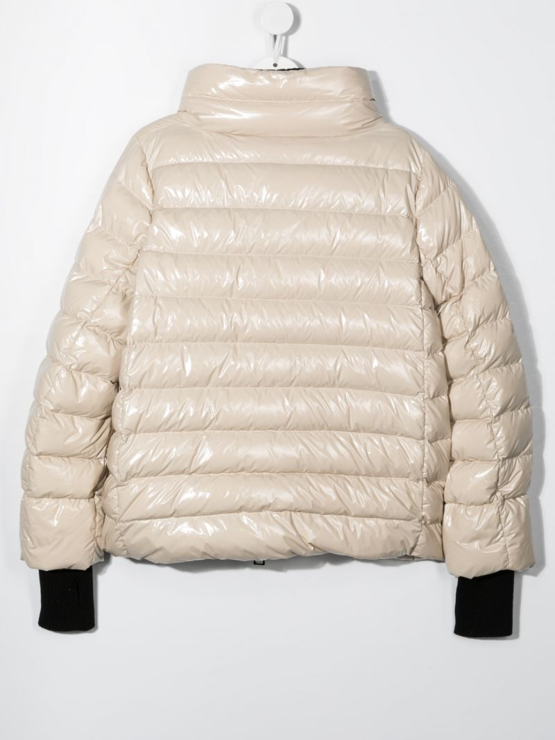 HERNO KIDS: glossy nylon down jacket Color Neutral_2
