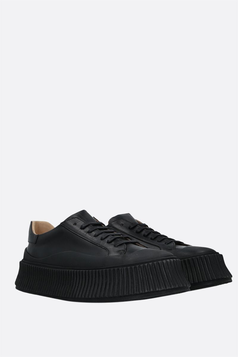 JIL SANDER: smooth leather and rubber low-top sneakers Color Black_2