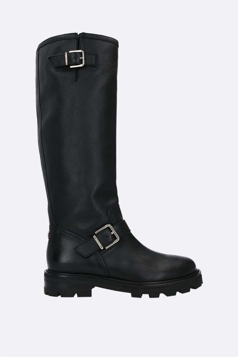 JIMMY CHOO: Biker II smooth leather boots Color Black_1