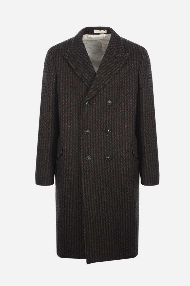 MASSIMO ALBA: Dodge double-breasted tweed coat Color Green_1