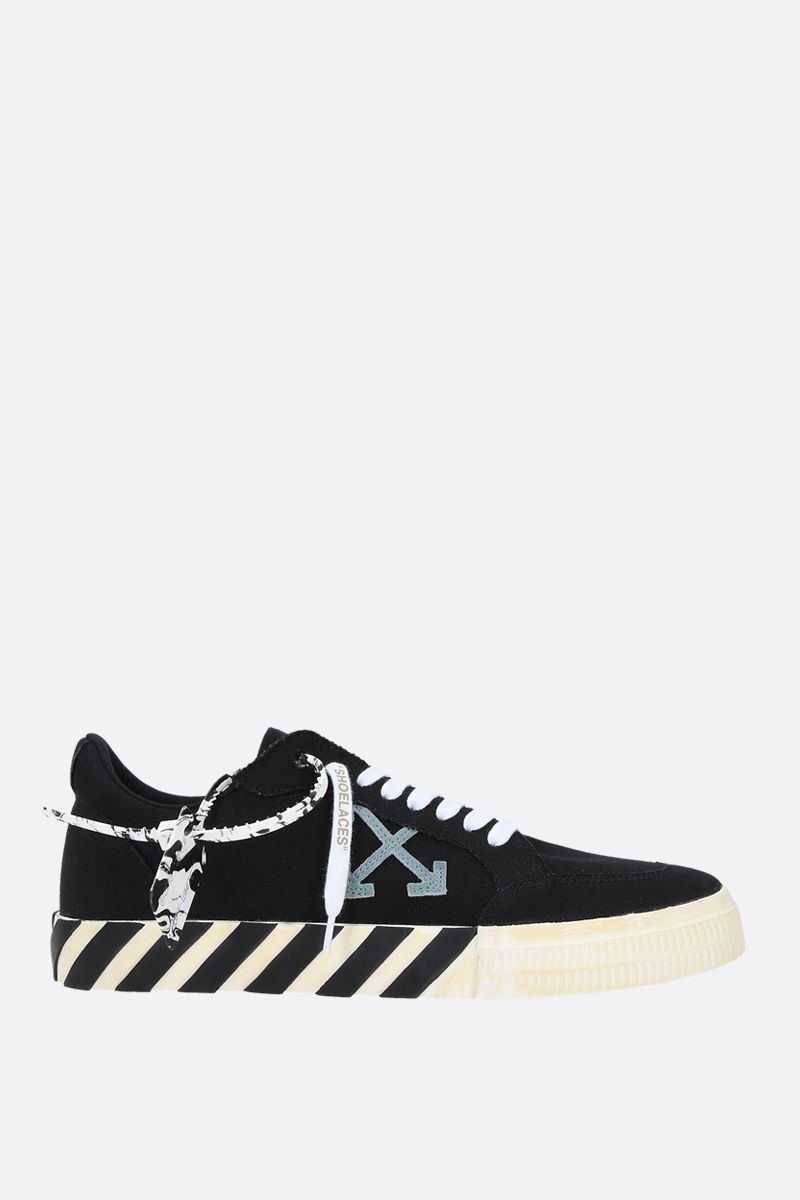OFF WHITE: Low Vulcanized eco canvas sneakers Color Black_1