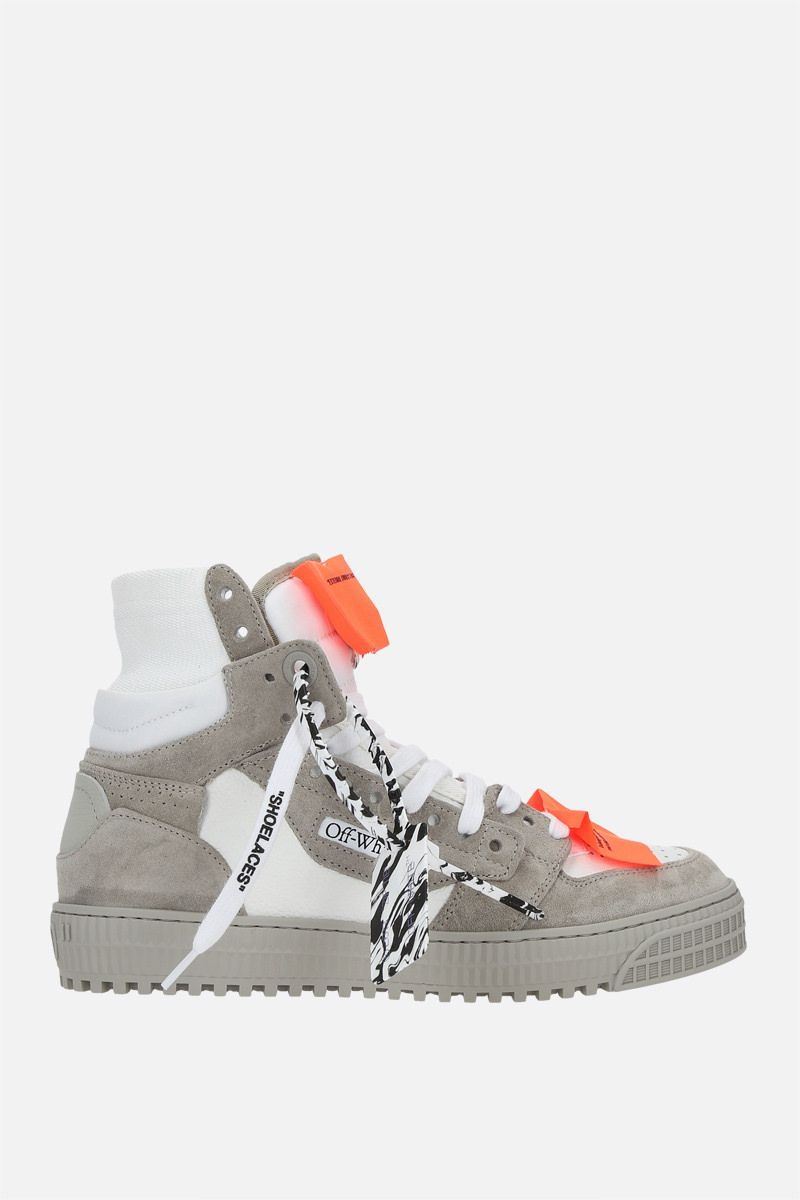 OFF WHITE: Off-Court 3.0 grainy leather and suede high-top sneakers Color White_1