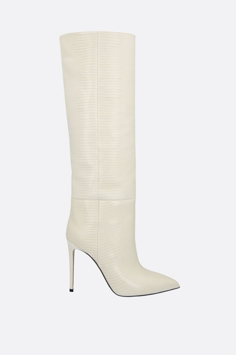 PARIS TEXAS: lizard embossed leather boots Color Yellow_1