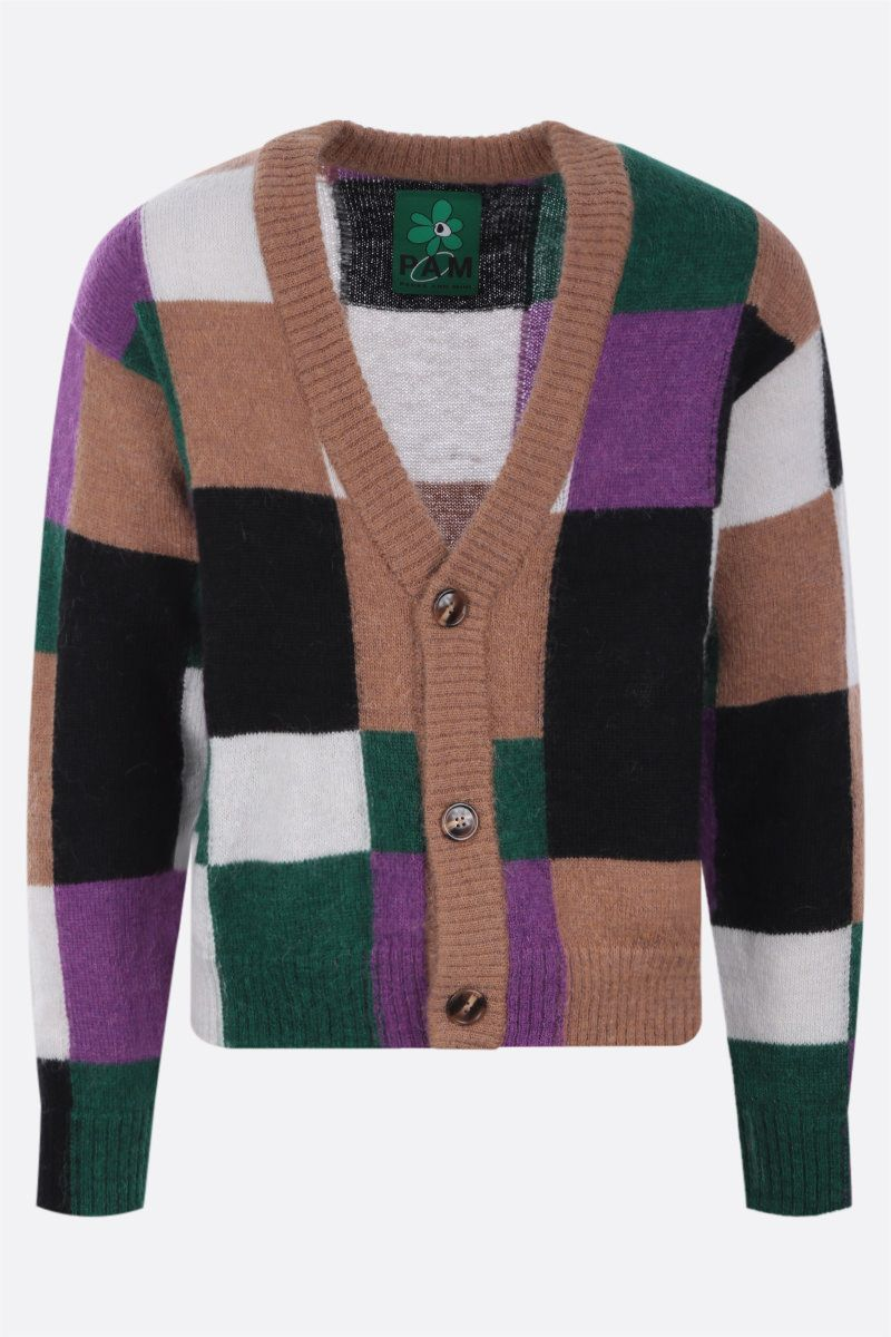 PERKS AND MINI: cardigan Communal Fields in misto mohair Colore Multicolor_1