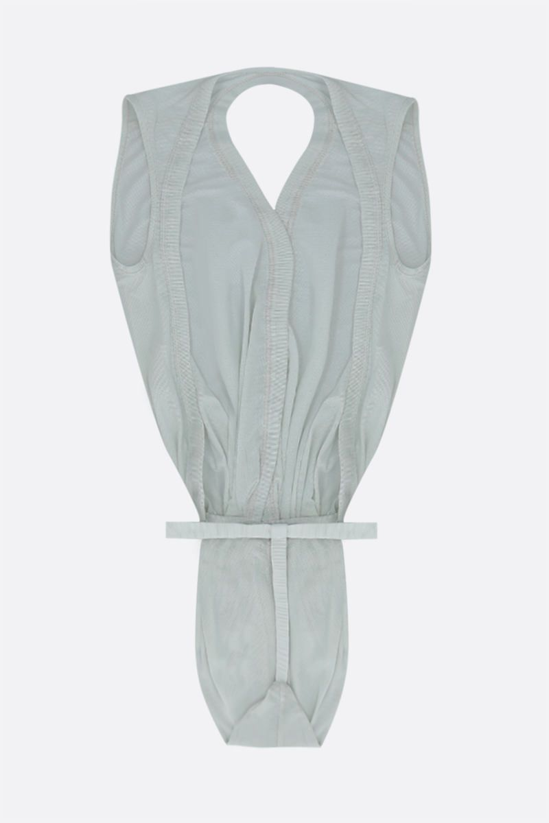 RICK OWENS: body Gia String in tulle Colore Grey_2