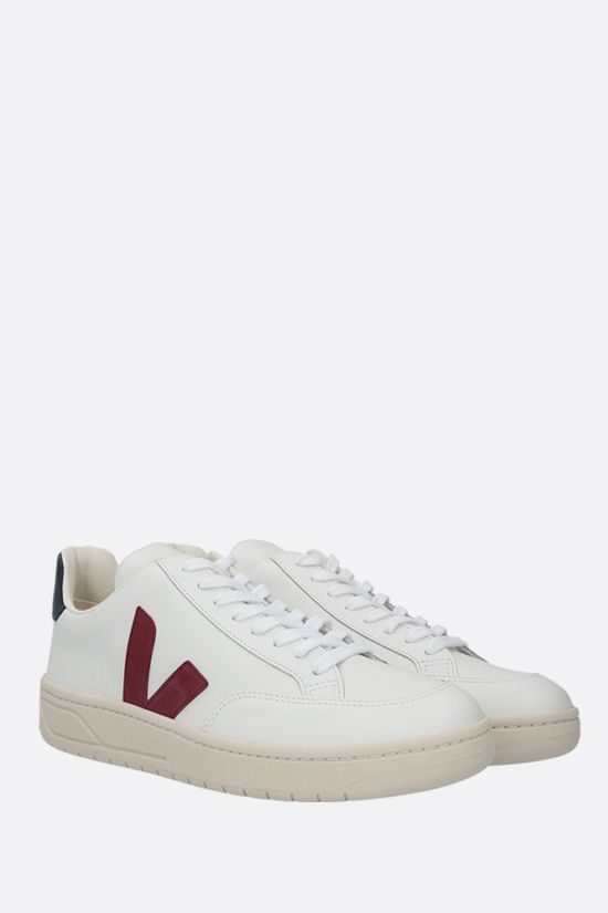 VEJA: V-12 smooth leather sneakers Color White_2