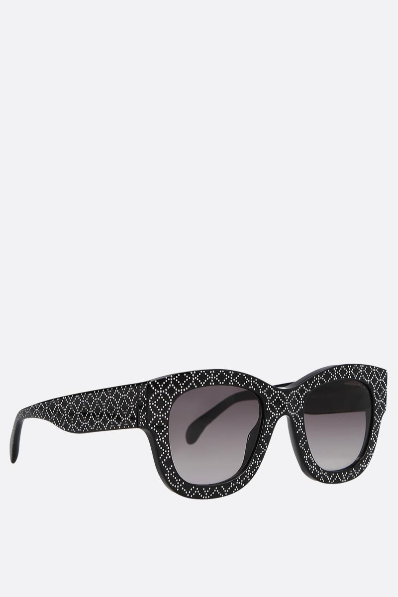 ALAIA: cat-eye acetate sunglasses Color Black_2