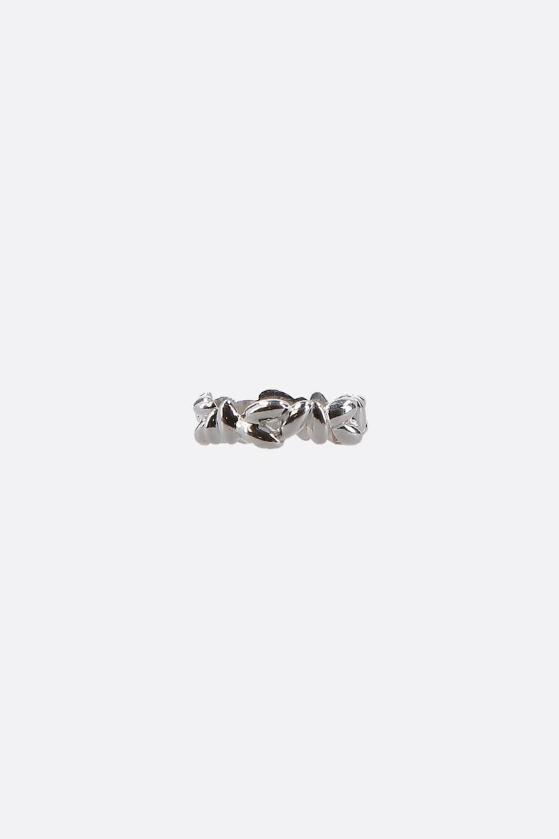 BEA BONGIASCA: Rice Pinky extra small silver ring Color Silver_3