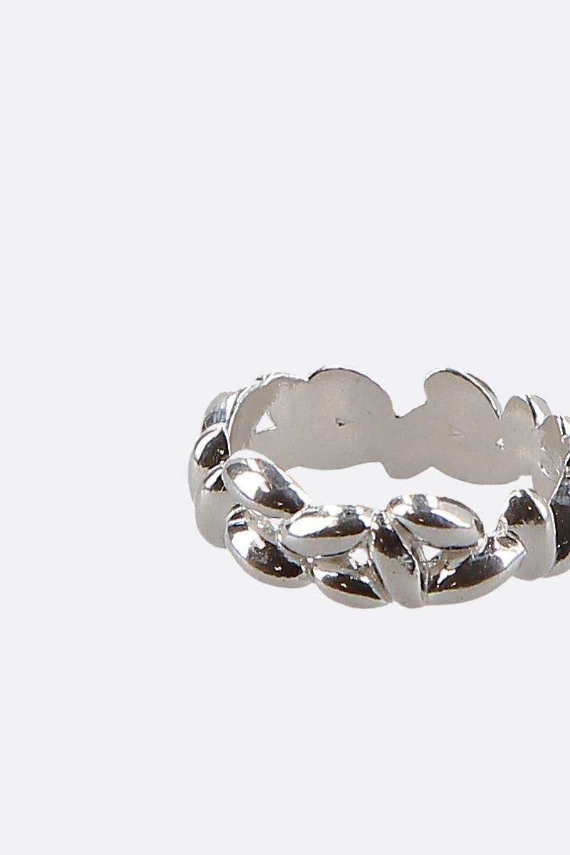 BEA BONGIASCA: Rice Pinky extra small silver ring Color Silver_4