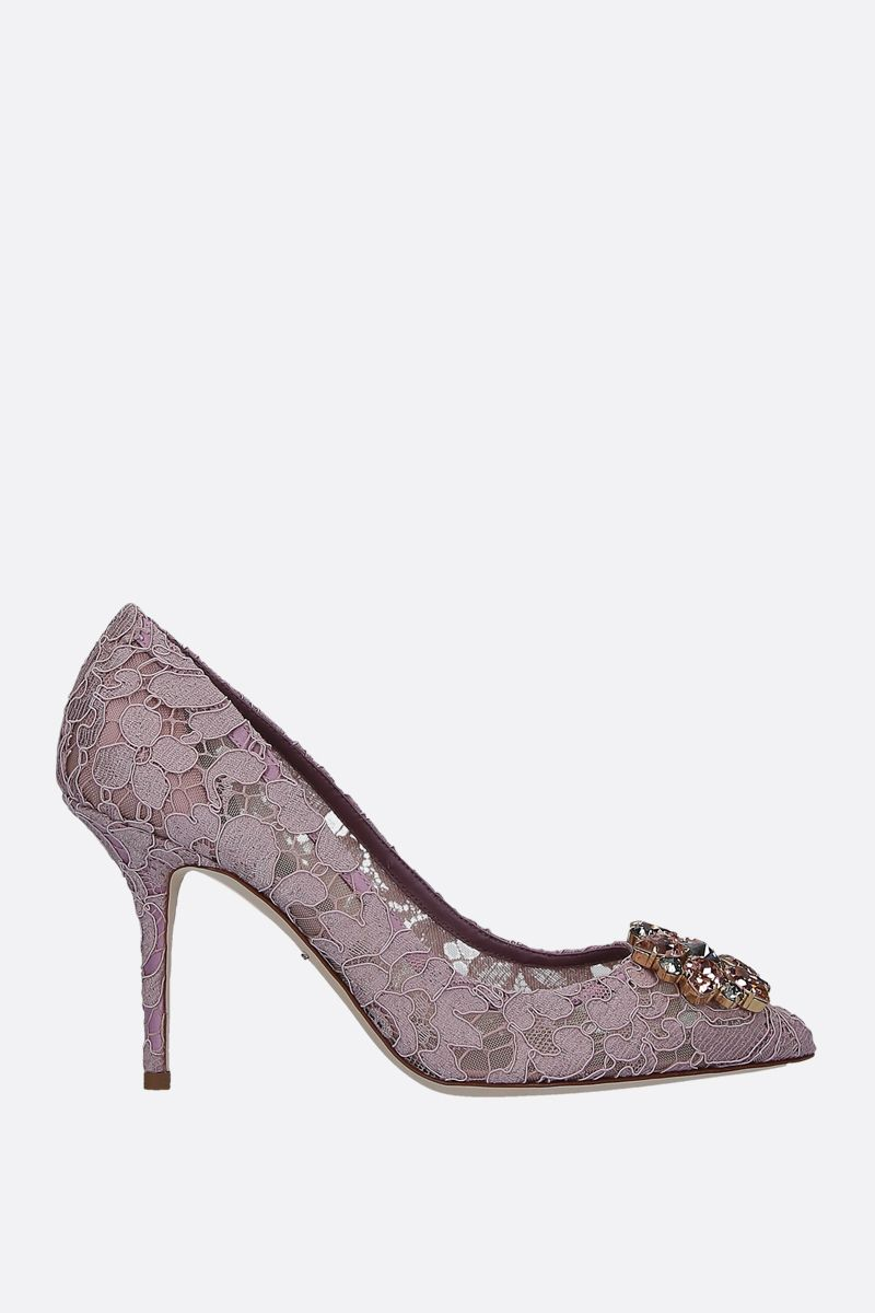DOLCE & GABBANA: Bellucci pumps in Taormina lace with crystals_1