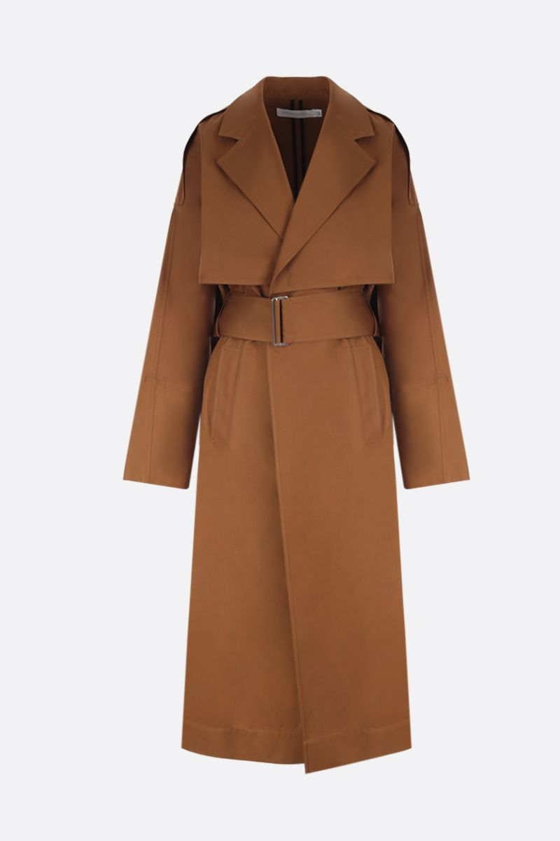VICTORIA BECKHAM: technical cotton wrap trench coat Color Yellow_1