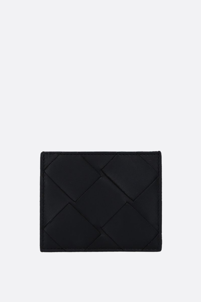 BOTTEGA VENETA: Maxi Intrecciato card case Color Black_1