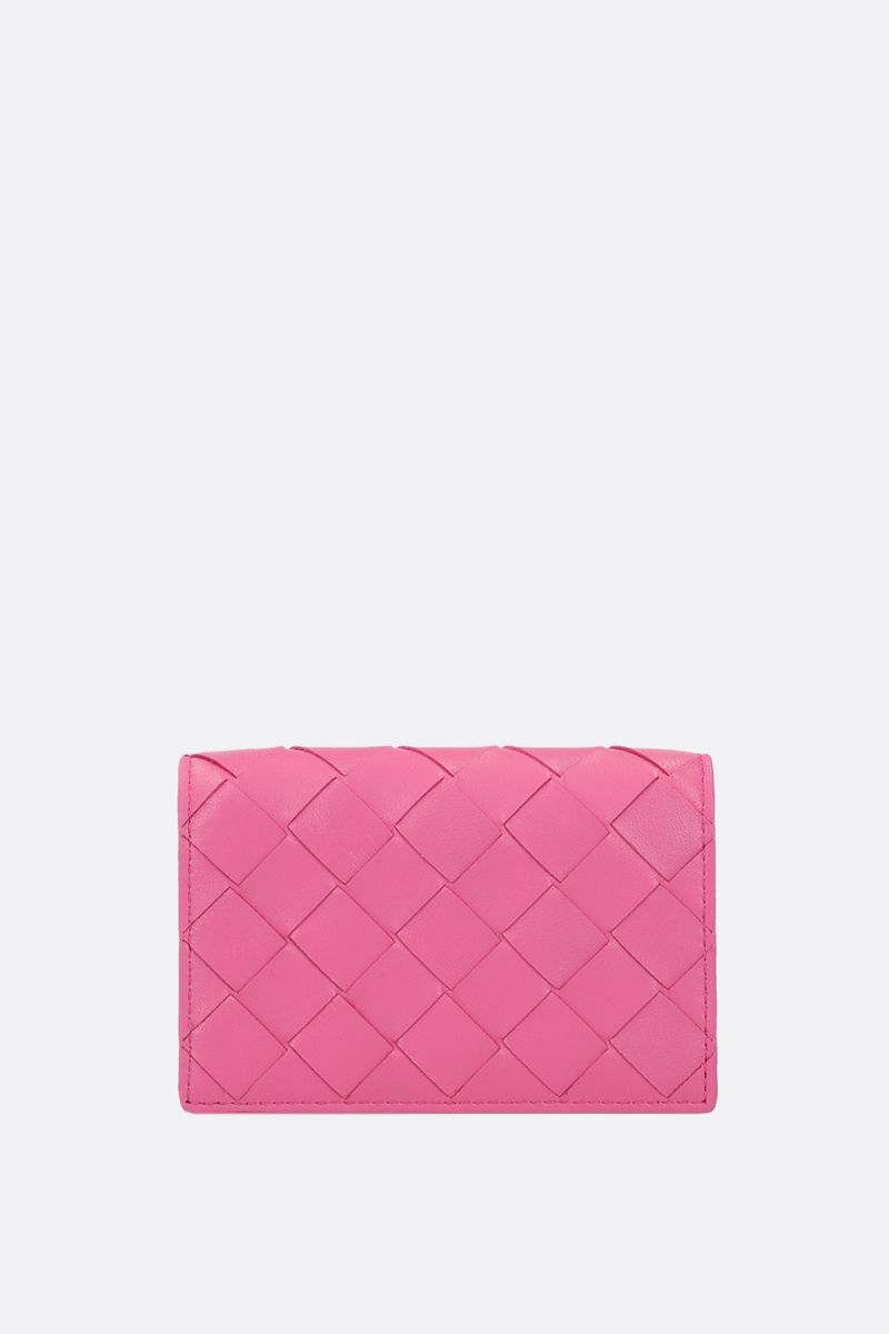 BOTTEGA VENETA: Intrecciato nappa card case Color Pink_1