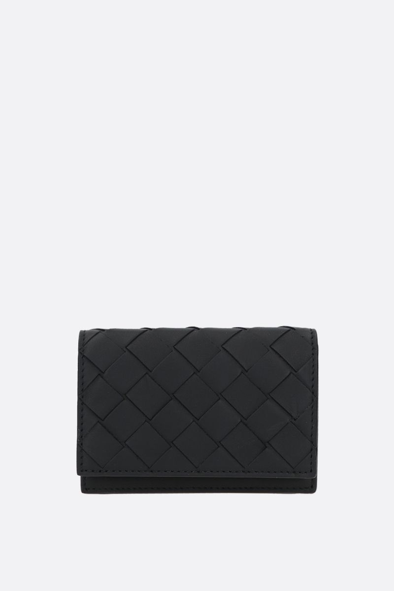 BOTTEGA VENETA: Intrecciato VN flap card case Color Black_1