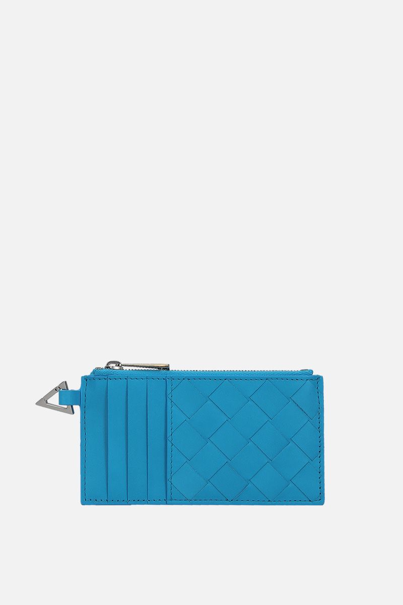BOTTEGA VENETA: Intrecciato VN card case Color Blue_1