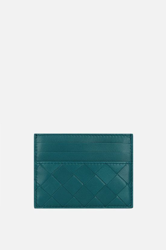 BOTTEGA VENETA: Intrecciato nappa card case Color Blue_1