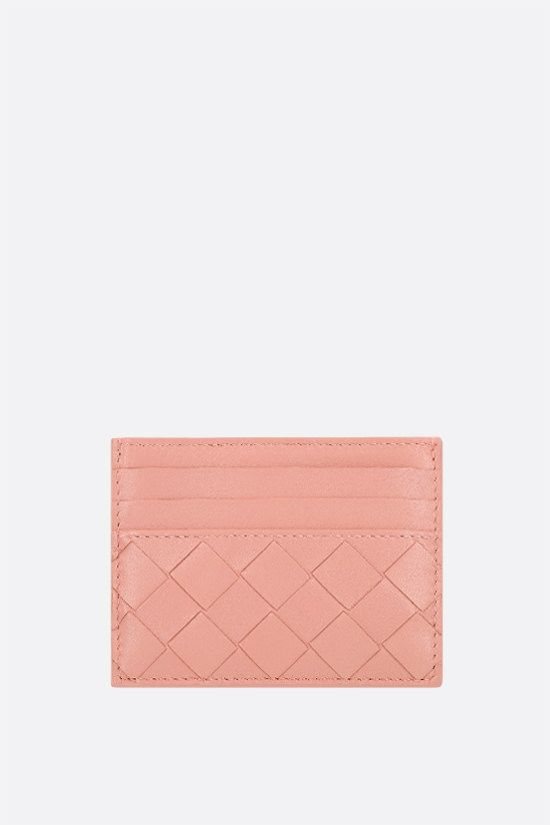 BOTTEGA VENETA: Intrecciato nappa card case Color Orange_1