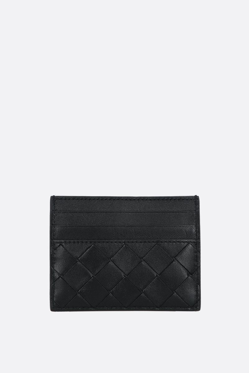 BOTTEGA VENETA: Intrecciato nappa card case Color Black_1