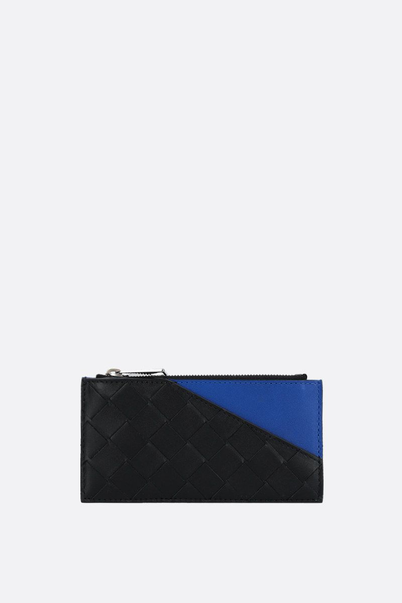 BOTTEGA VENETA: Intrecciato VN zip card case Color Black_1