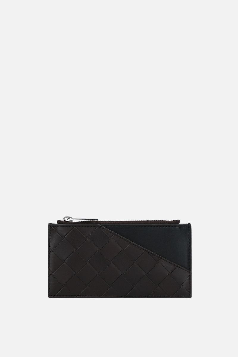 BOTTEGA VENETA: Intrecciato VN zip card case Color Multicolor_1