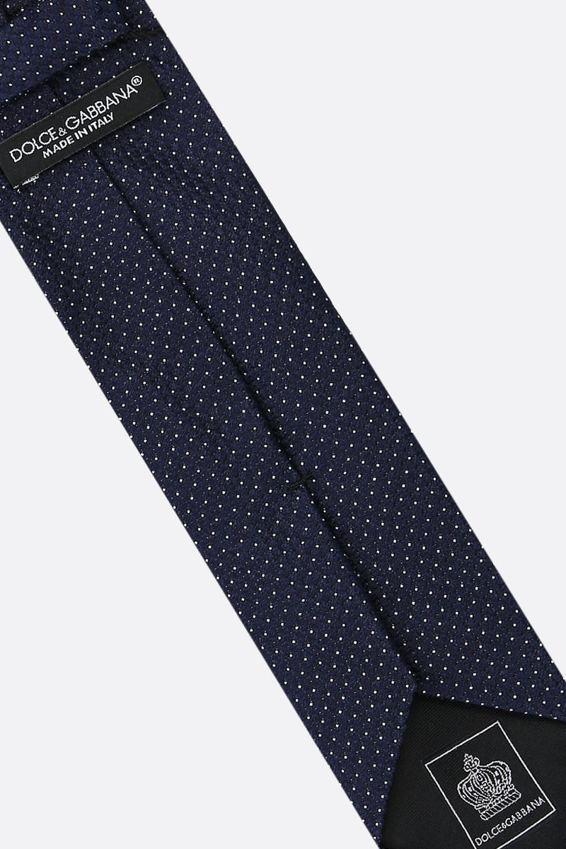 DOLCE & GABBANA: polka-dot silk tie Color Blue_2