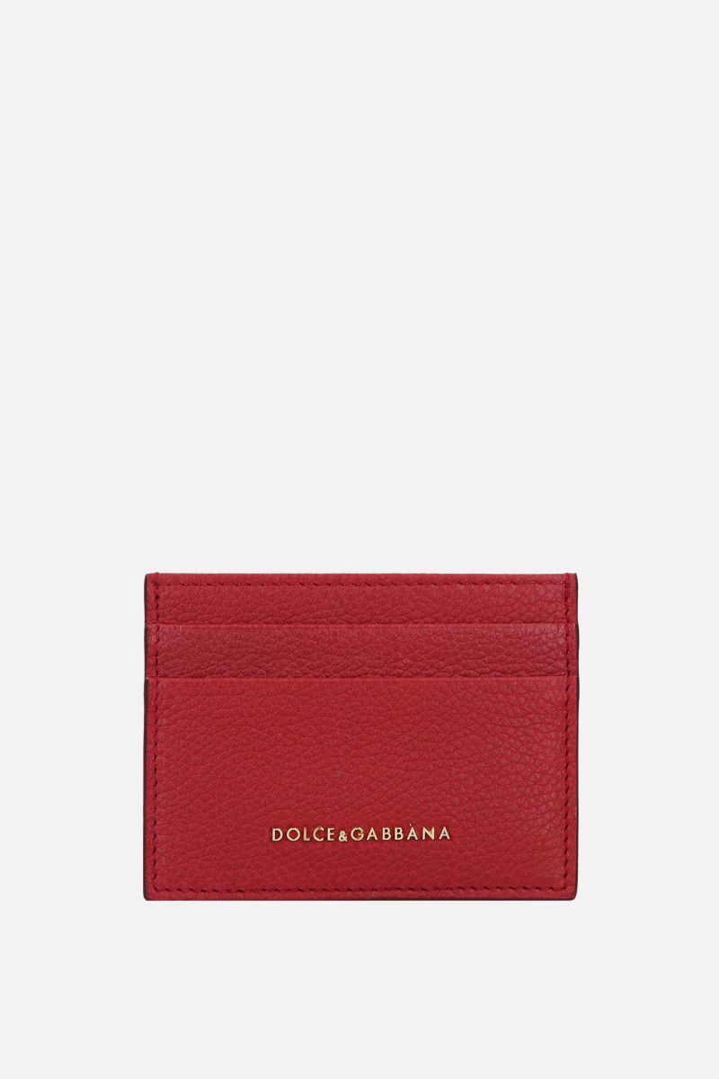DOLCE & GABBANA: grainy leather card case Color Red_1