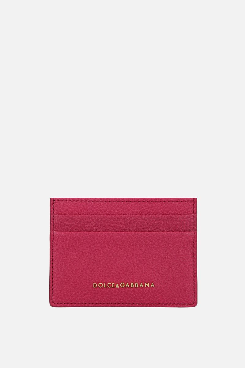 DOLCE & GABBANA: grainy leather card case Color Pink_1