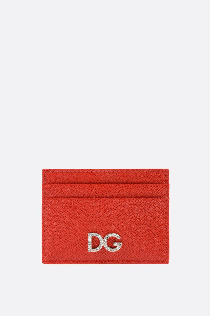 DOLCE & GABBANA: Dauphine leather card case Color Red_1