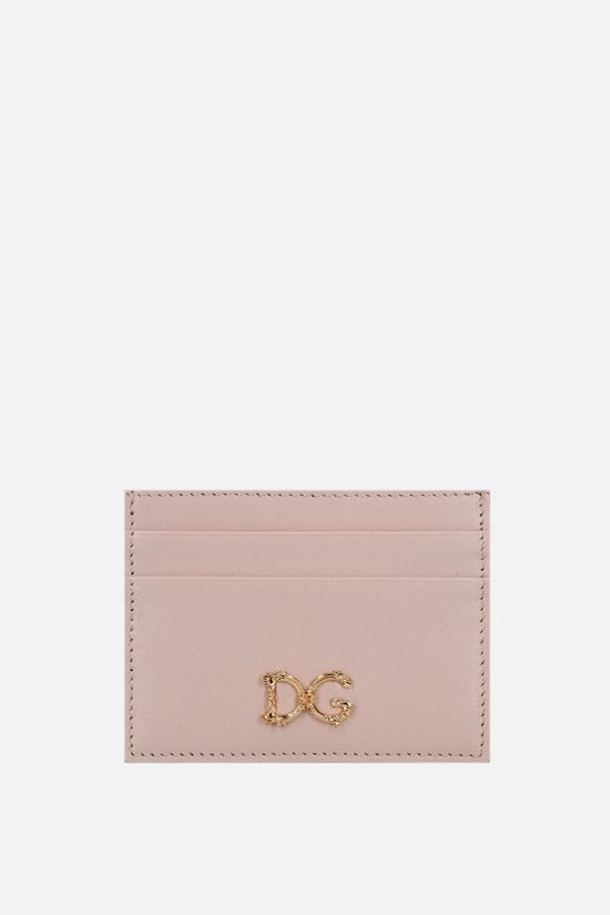 DOLCE & GABBANA: DG-detailed smooth leather card case Color Neutral_1