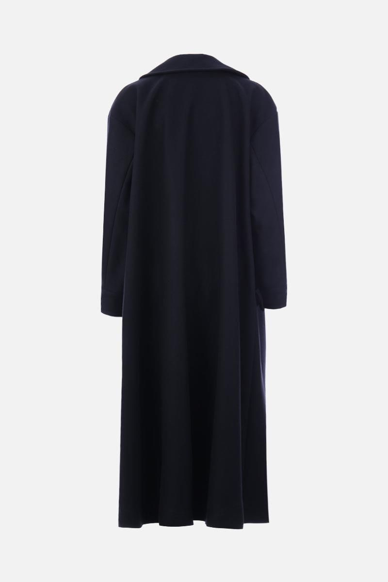 ALBERTA FERRETTI: oversize long coat in wool and cashmere Color Black_3