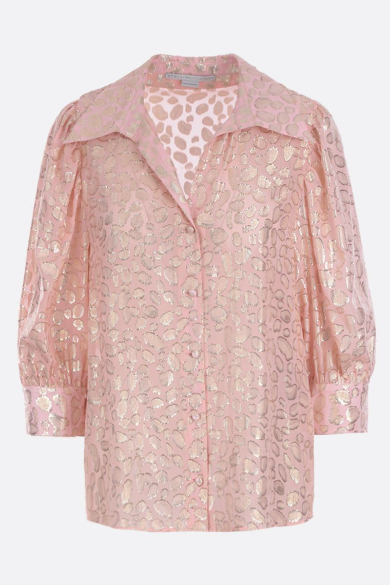 STELLA McCARTNEY: Reese leopard embroidered silk shirt_1