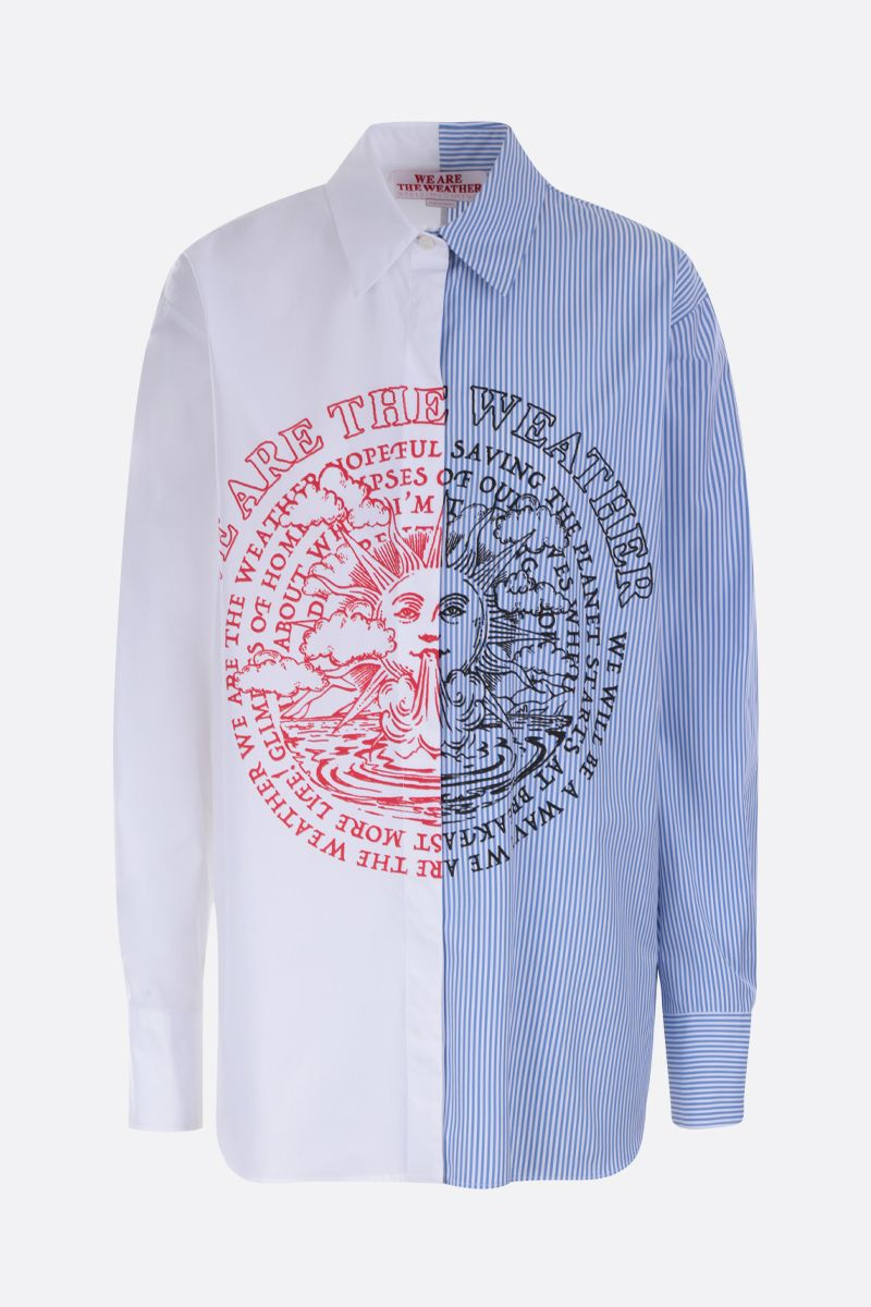 STELLA McCARTNEY: We are the weather print cotton oversized shirt Color White_1