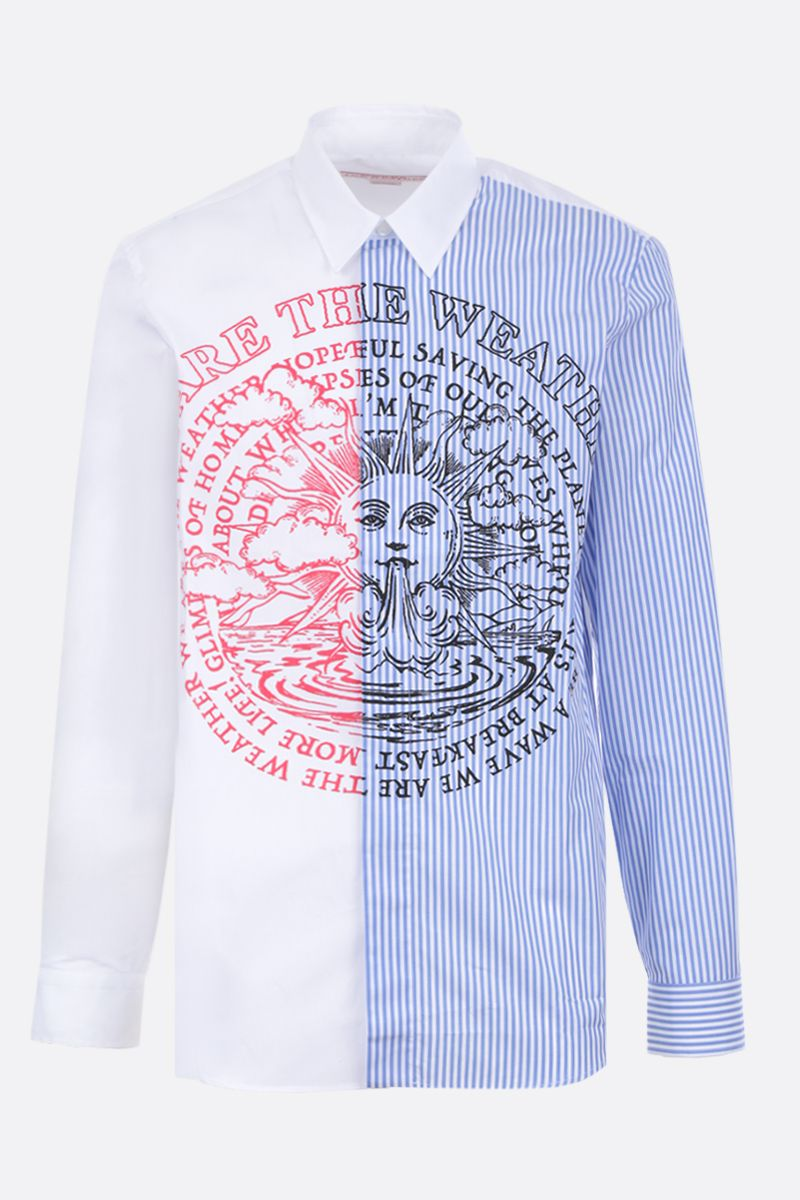 STELLA McCARTNEY: We are the weather print cotton shirt Color White_1