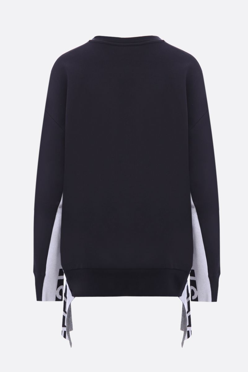 STELLA McCARTNEY: jersey sweatshirt with logoed inserts Color Black_2