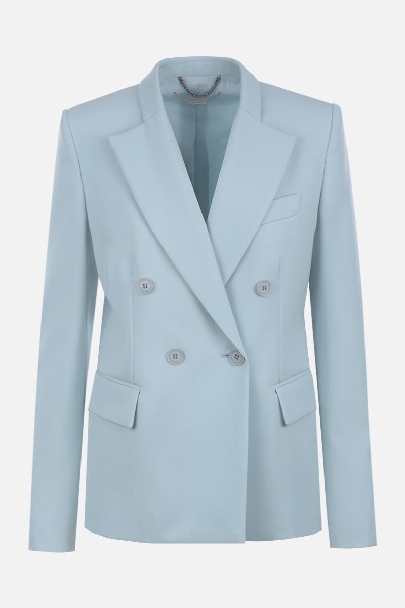 STELLA McCARTNEY: stretch wool double-breasted jacket Color Blue_1