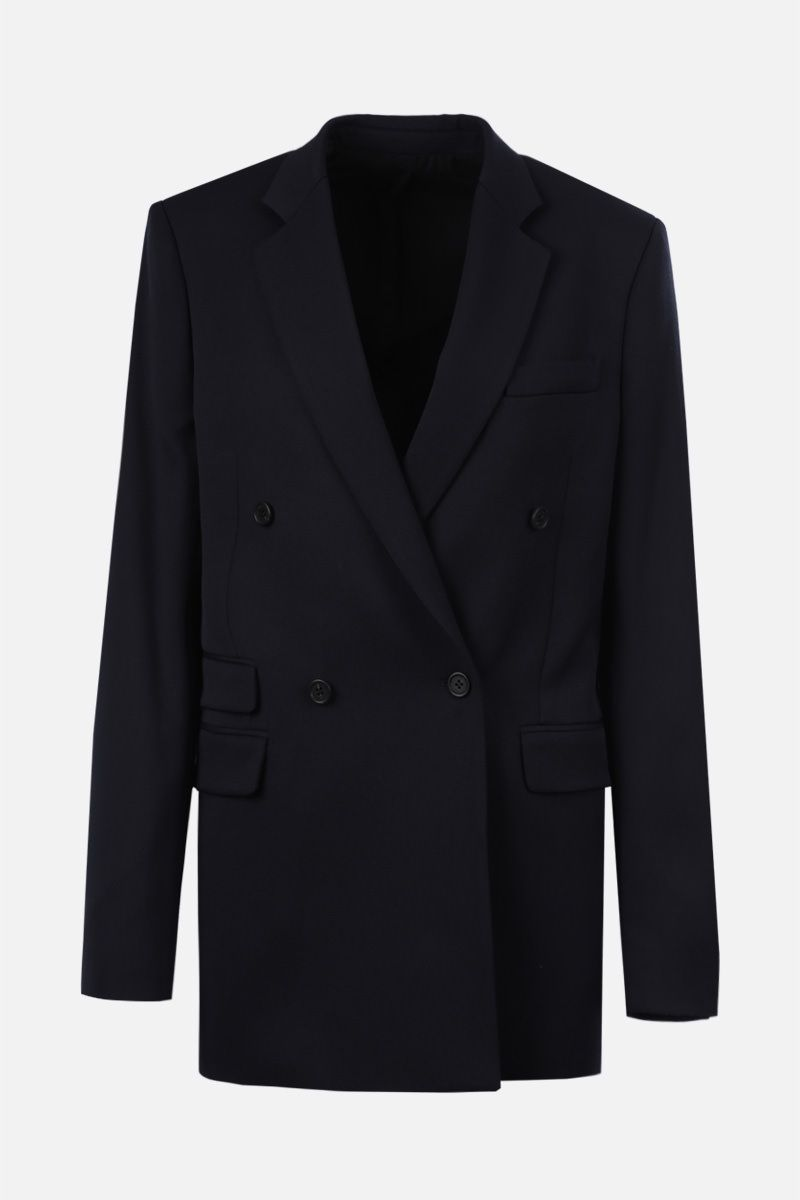 STELLA McCARTNEY: wool double-breasted jacket Color Black_1