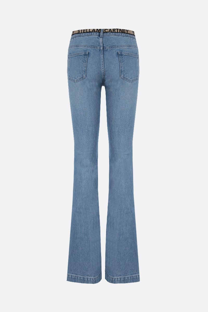 STELLA McCARTNEY: logoe belt-detailed flare jeans_2