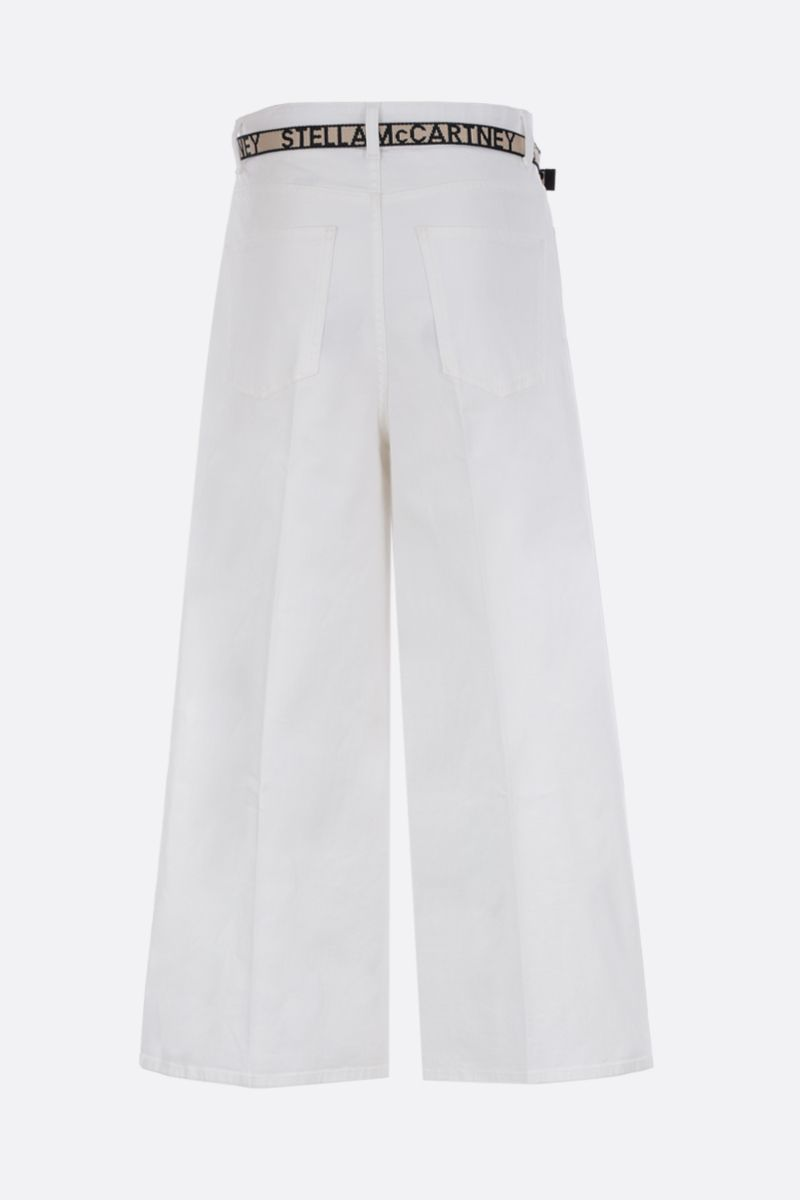 STELLA McCARTNEY: cropped wide-leg jeans with logoed belt_2