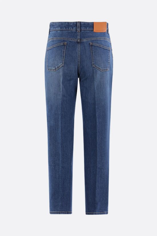 STELLA McCARTNEY: logo band-detailed cropped jeans Color Blue_2
