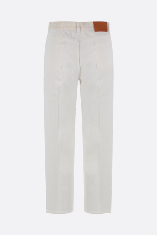 STELLA McCARTNEY: logo band-detailed cropped jeans Color White_2