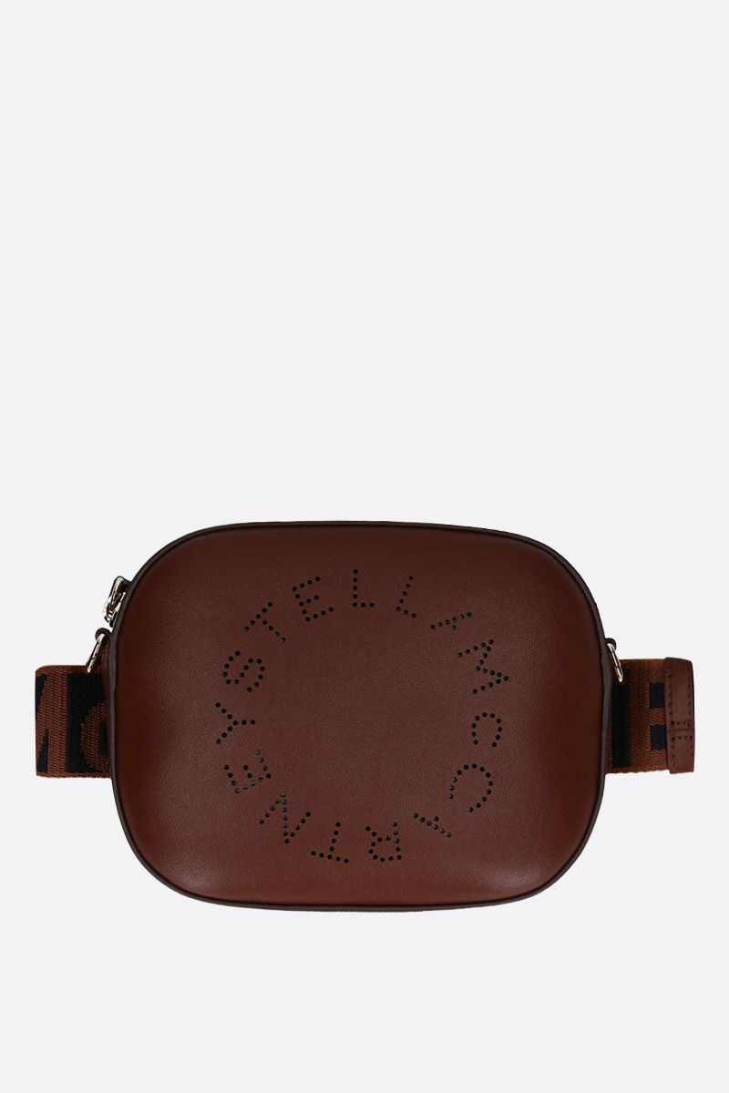 STELLA McCARTNEY: Stella Logo belt bag in Alter Nappa Color Neutral_1