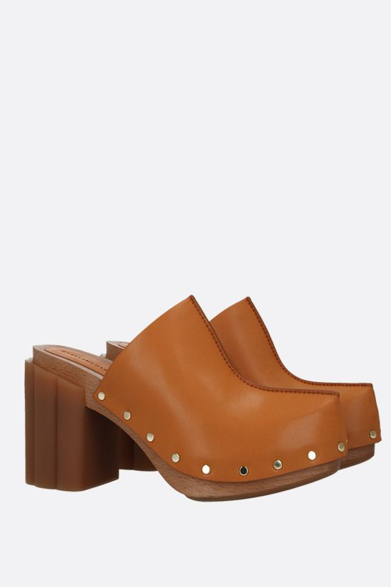 STELLA McCARTNEY: Daisy mules in Alter Mat Color Brown_2