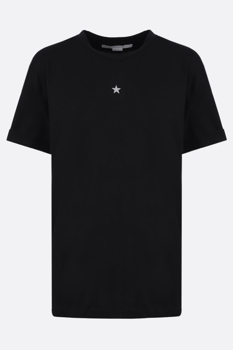STELLA McCARTNEY: Ministar cotton t-shirt Color Black_1