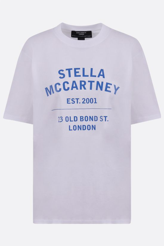 STELLA McCARTNEY: 23 OBS sustainable cotton oversize t-shirt Color White_1