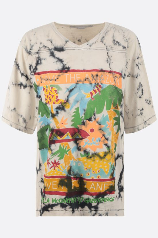 STELLA McCARTNEY: Rainforest cotton t-shirt Color Multicolor_1