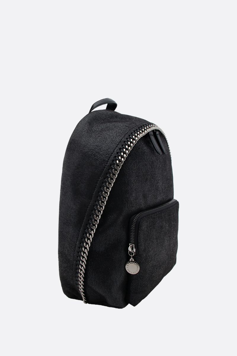 STELLA McCARTNEY: zaino Falabella small in Shaggy Deer Colore Nero_2