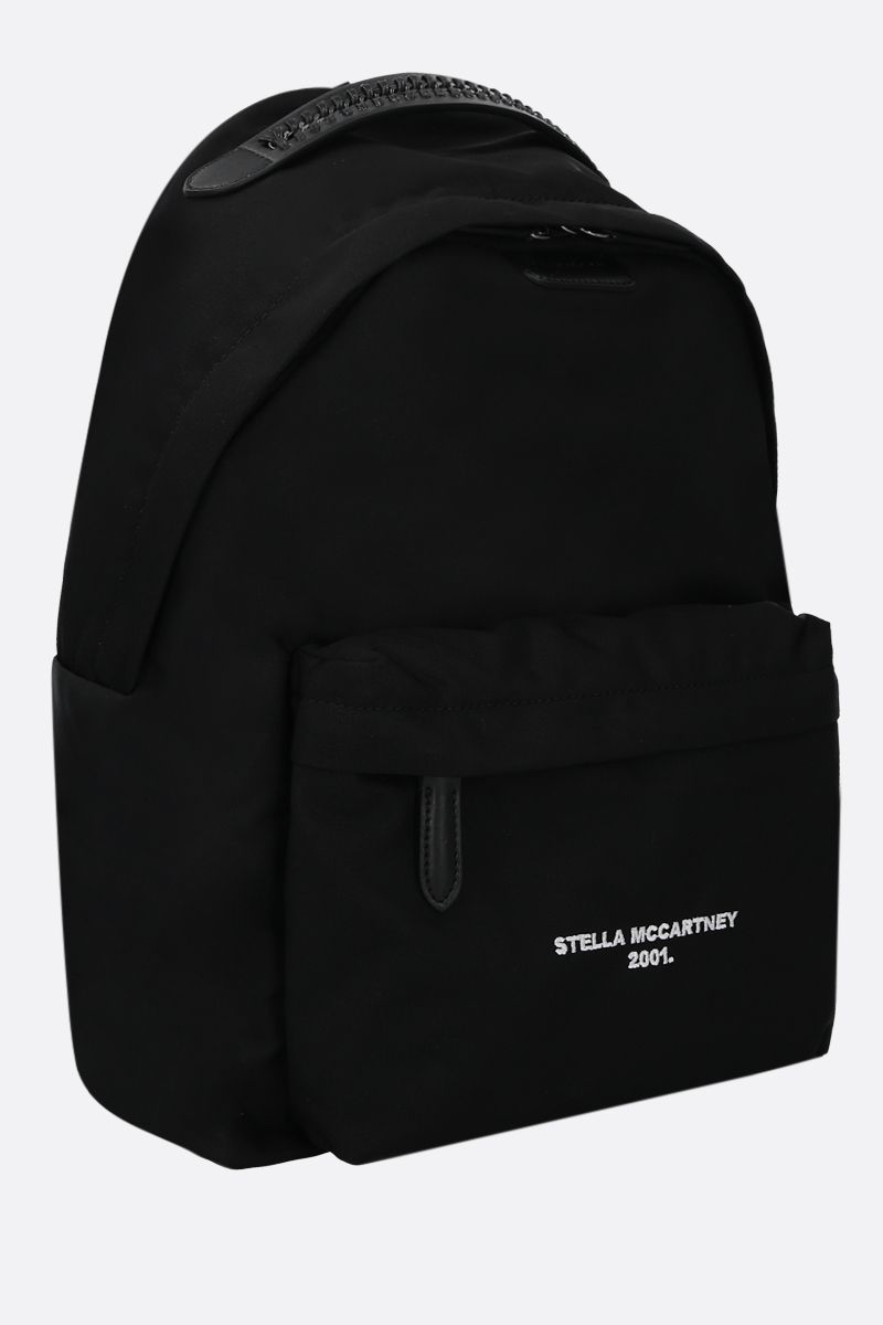 STELLA McCARTNEY: Stella Logo backpack in ECONYL® Color Black_2