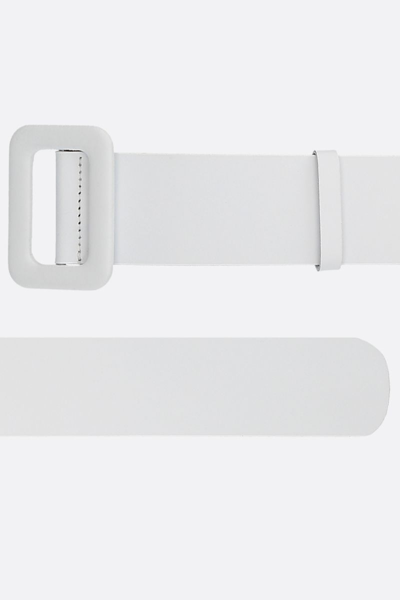 FEDERICA TOSI: smooth leather waist belt Color White_2