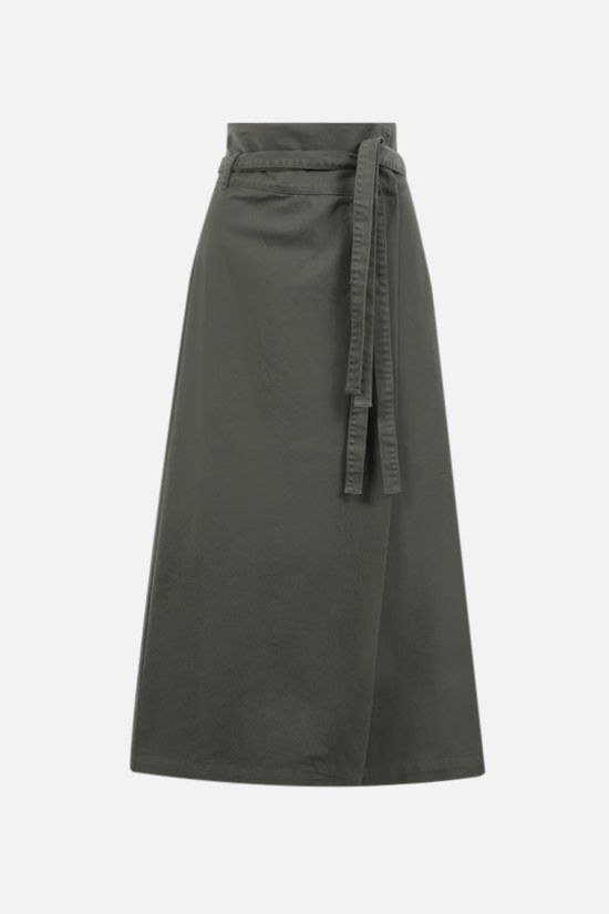 FEDERICA TOSI: stretch denim wrap skirt Color Green_1
